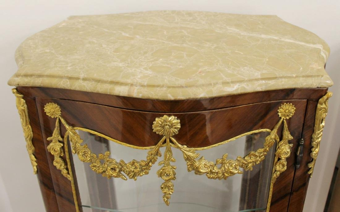 LOUIS XV STYLE M.T. OVAL VITRINE CABINET - 4
