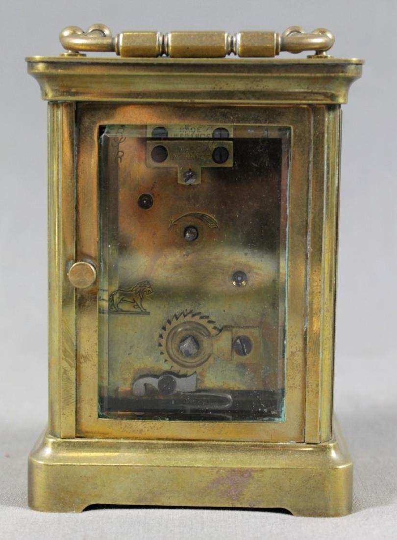 FRENCH BRASS CARRIAGE CLOCK - 3