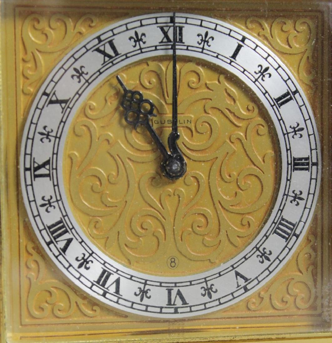 BRASS INLAID CARRIAGE CLOCK - 2