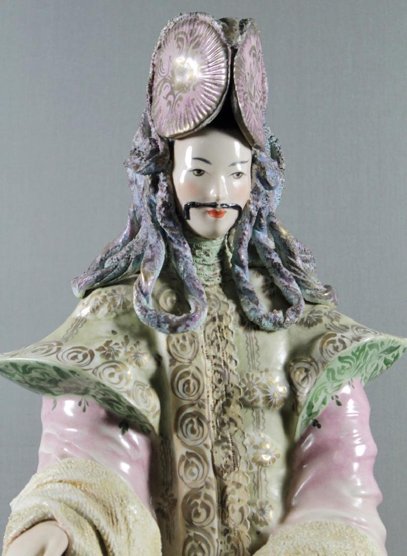 """PAIR OF LARGE 27"""" CHINESE PORCELAIN FIGURES - 3"""