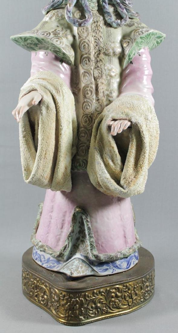 """PAIR OF LARGE 27"""" CHINESE PORCELAIN FIGURES - 4"""