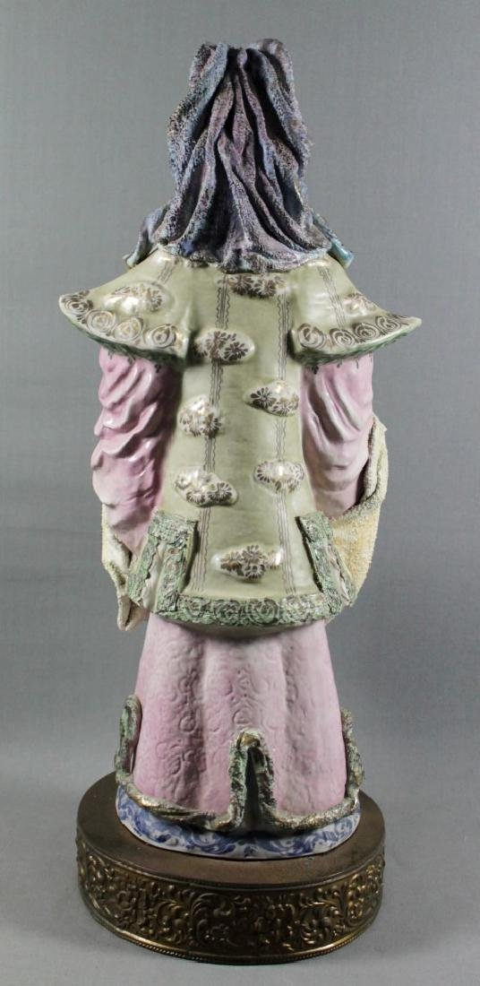"""PAIR OF LARGE 27"""" CHINESE PORCELAIN FIGURES - 6"""