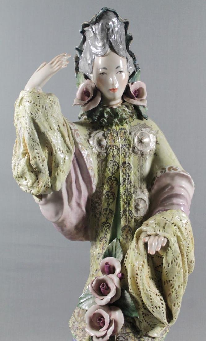 """PAIR OF LARGE 27"""" CHINESE PORCELAIN FIGURES - 8"""