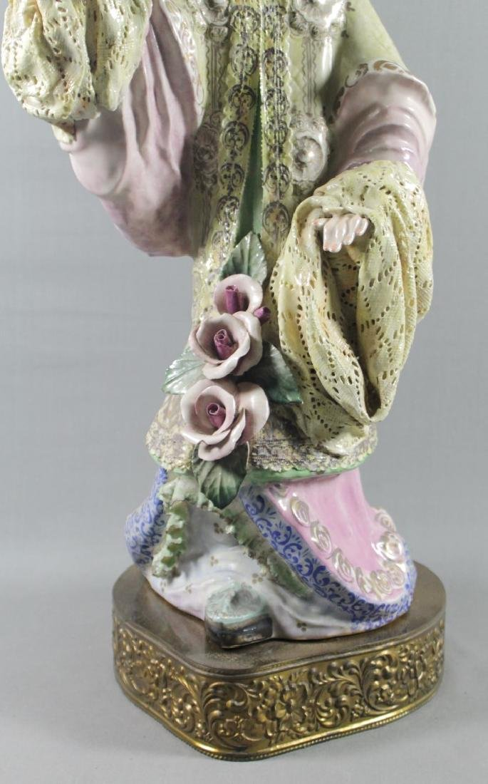 """PAIR OF LARGE 27"""" CHINESE PORCELAIN FIGURES - 9"""
