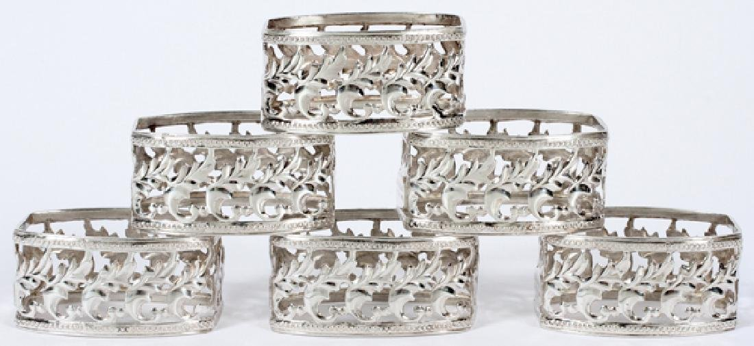 BUCCELLATI ITALIAN STERLING NAPKIN RINGS SET OF 6