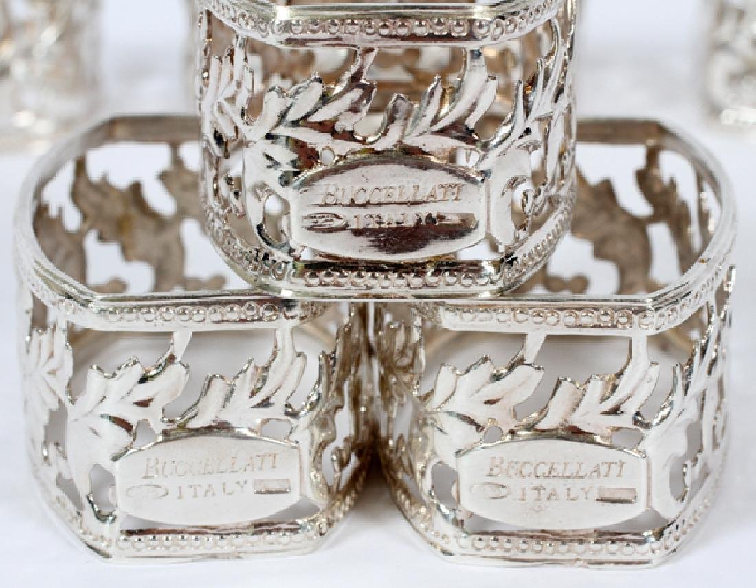 BUCCELLATI ITALIAN STERLING NAPKIN RINGS SET OF 6 - 2