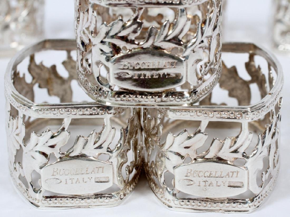BUCCELLATI ITALIAN STERLING NAPKIN RINGS SET OF 6 - 3