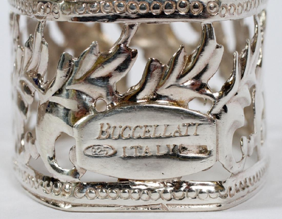 BUCCELLATI ITALIAN STERLING NAPKIN RINGS SET OF 6 - 4
