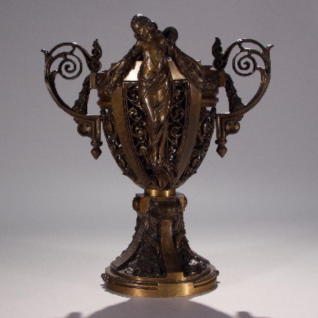 EARLY 2OTH C. BRONZE ITALIAN URN