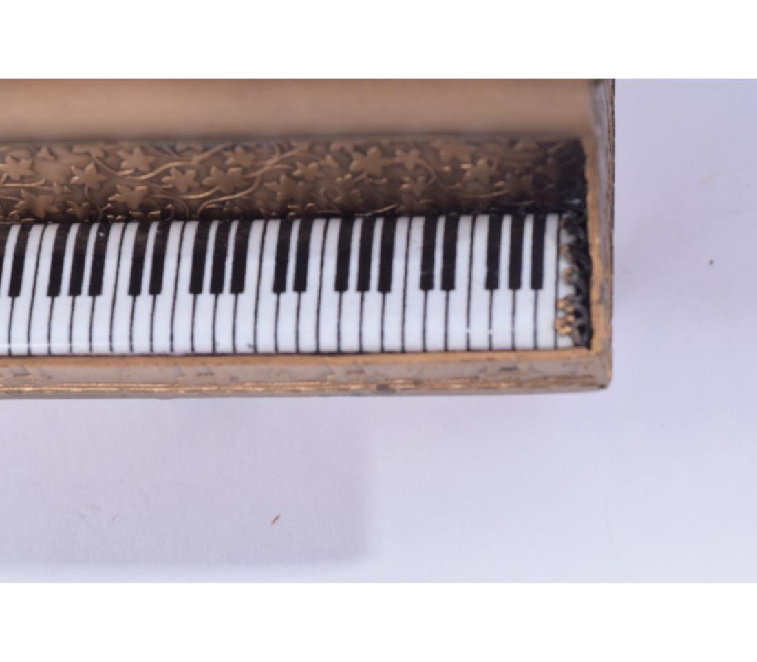 MINIATURE AUSTRIAN BRONZE AND ENAMEL PIANO - 9