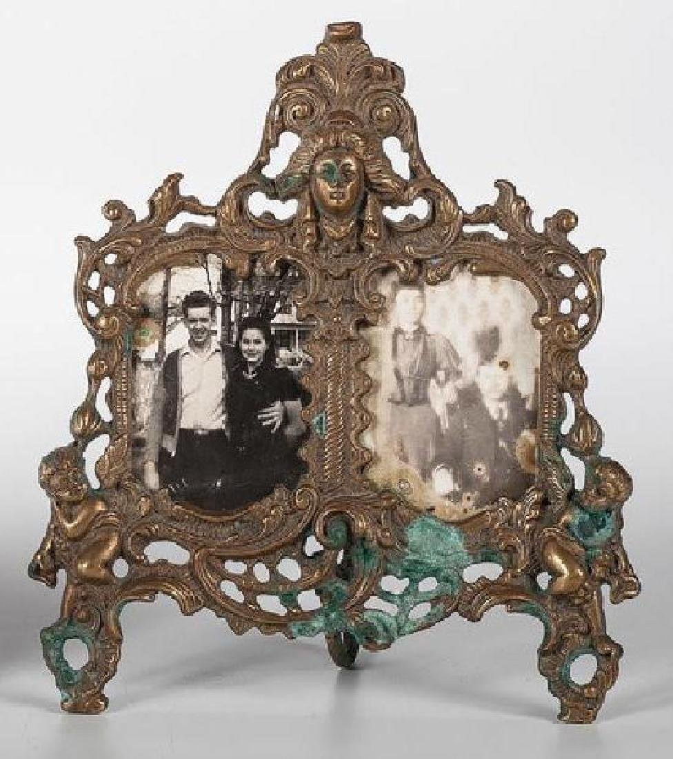A Rococo-style double picture frame