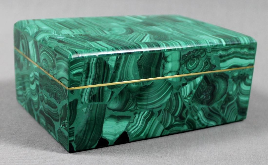RUSSIAN MALACHITE LIDDED BOX