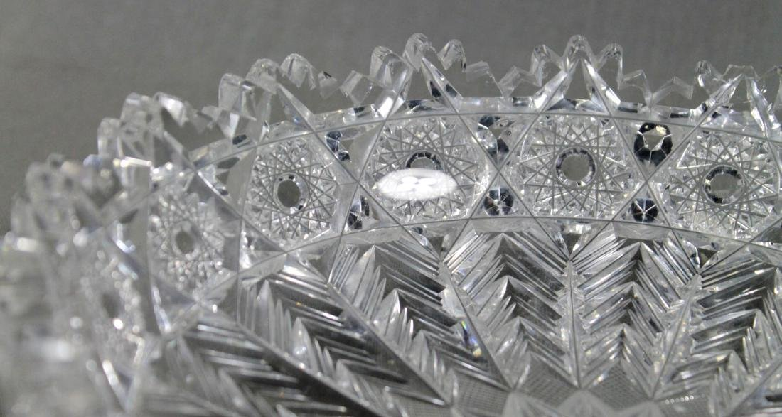 BRILLIANT CUT BACCARAT STYLE CUT CANDY DISH - 2