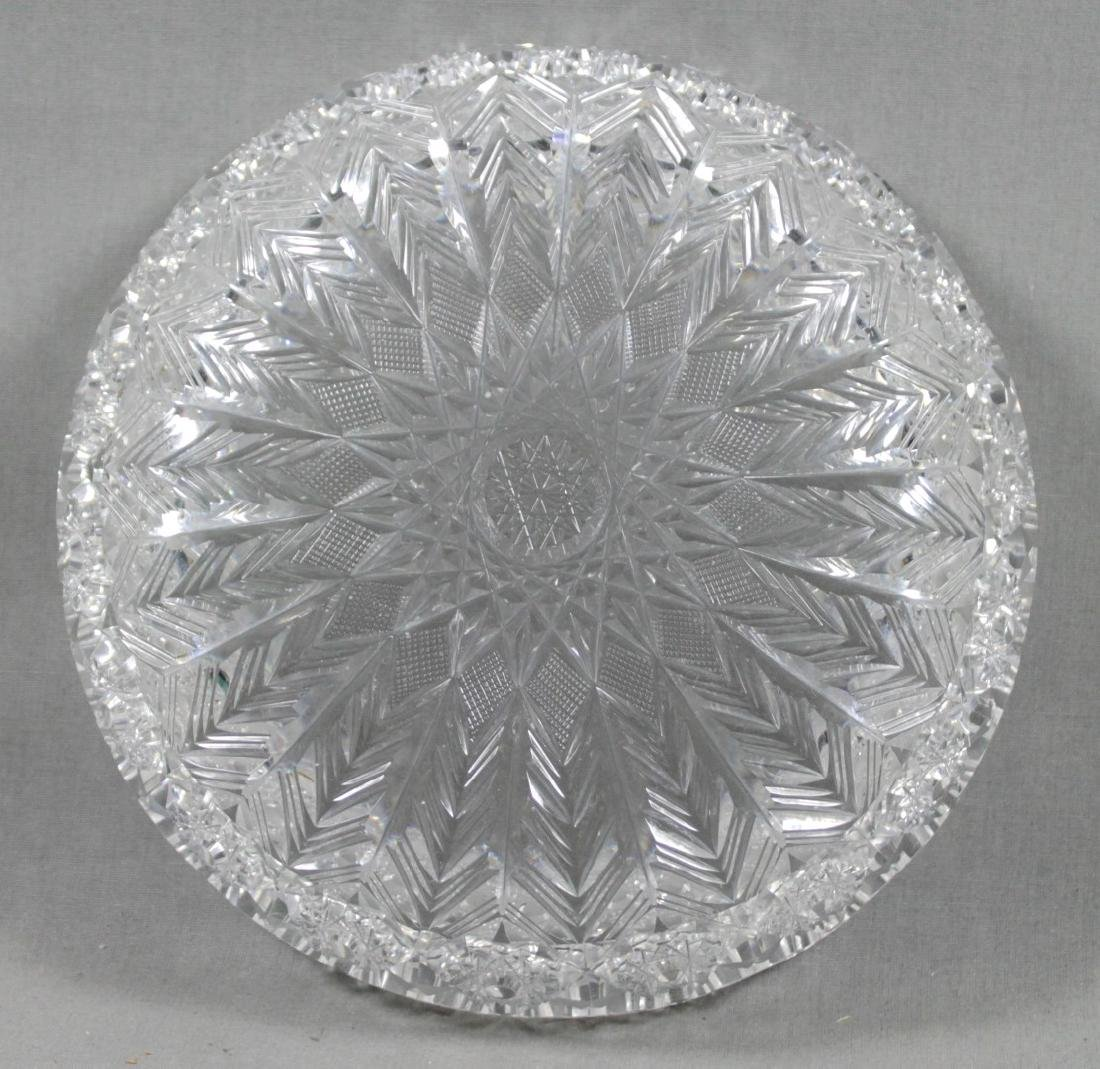 BRILLIANT CUT BACCARAT STYLE CUT CANDY DISH - 3