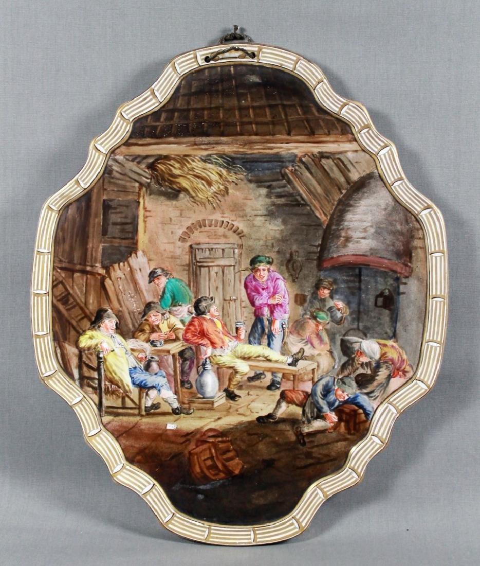 Rare lille Oval Porcelain Plaque