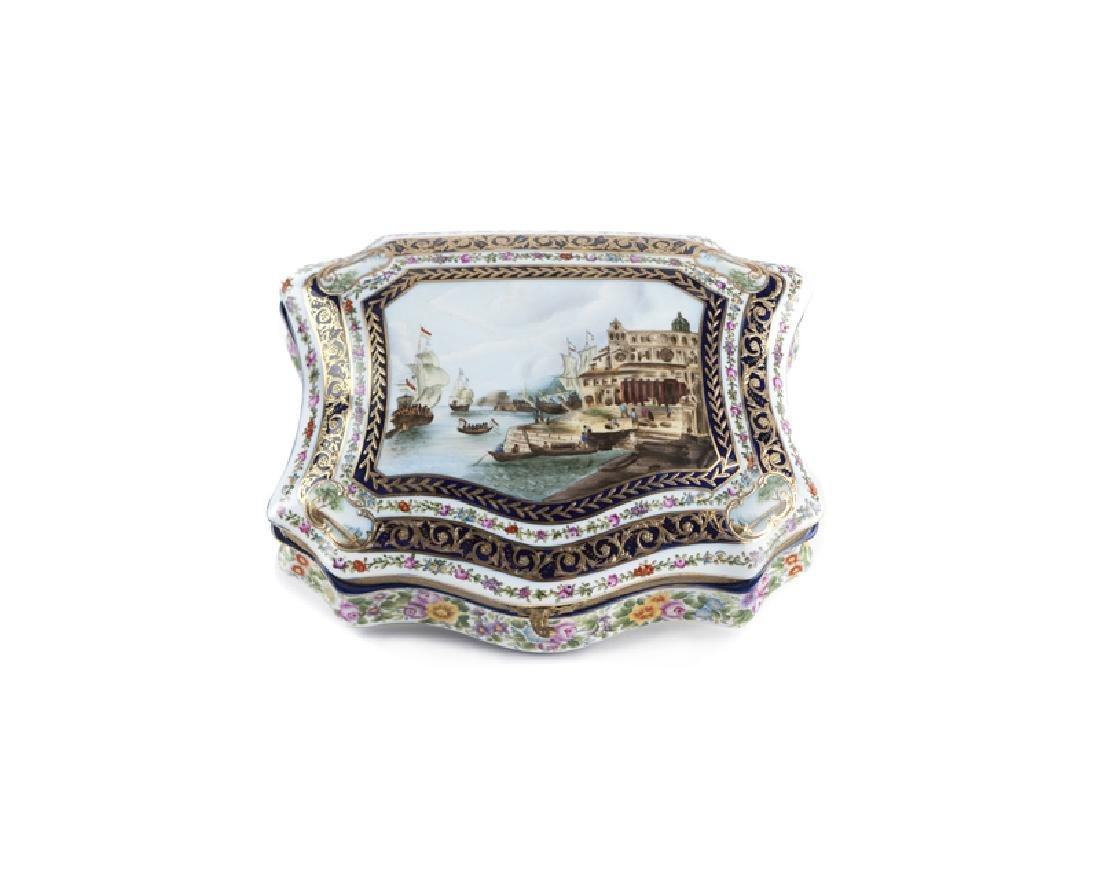 Early 20th Century Large Sevres-style porcelain box