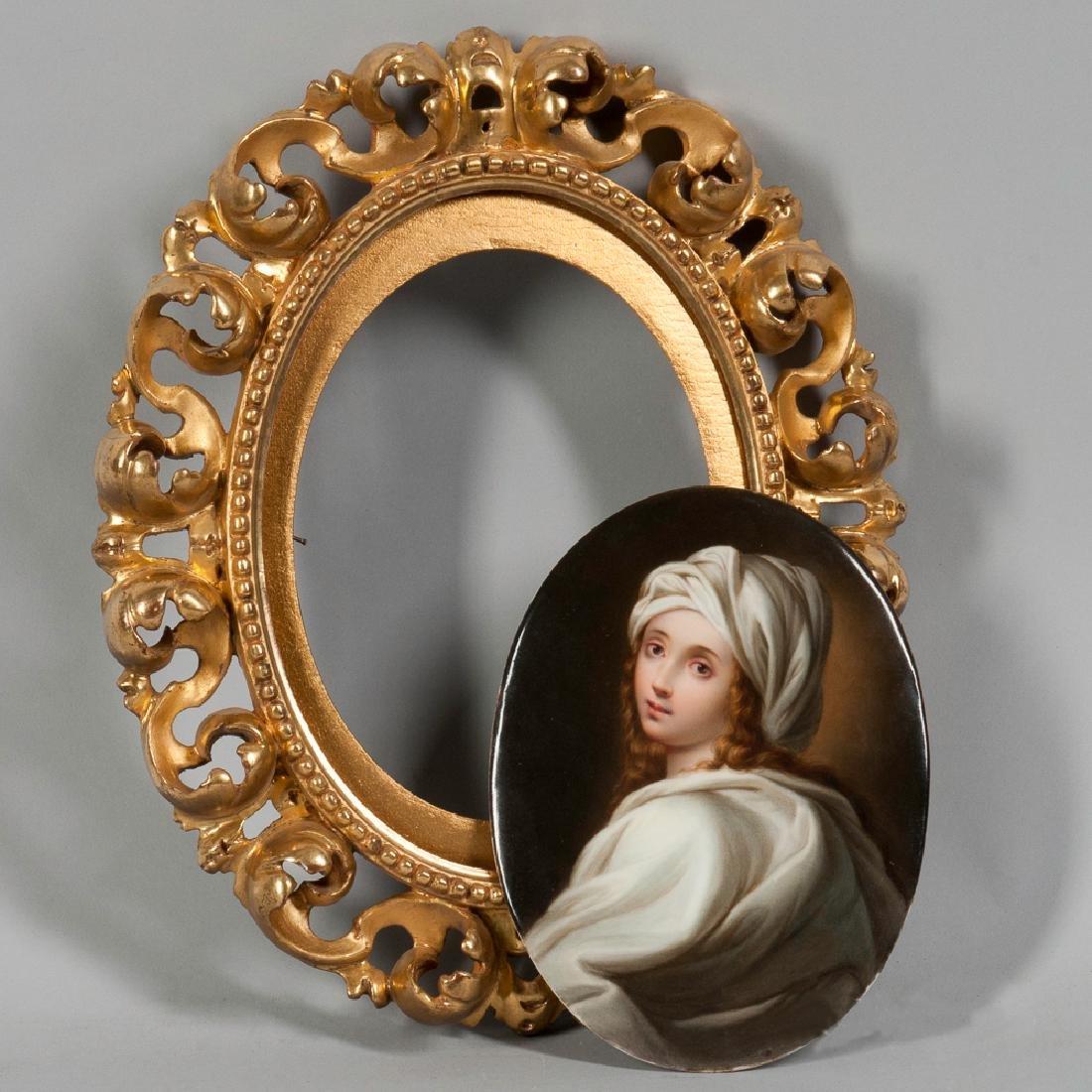 KPM Oval Porcelain Portrait Plaque