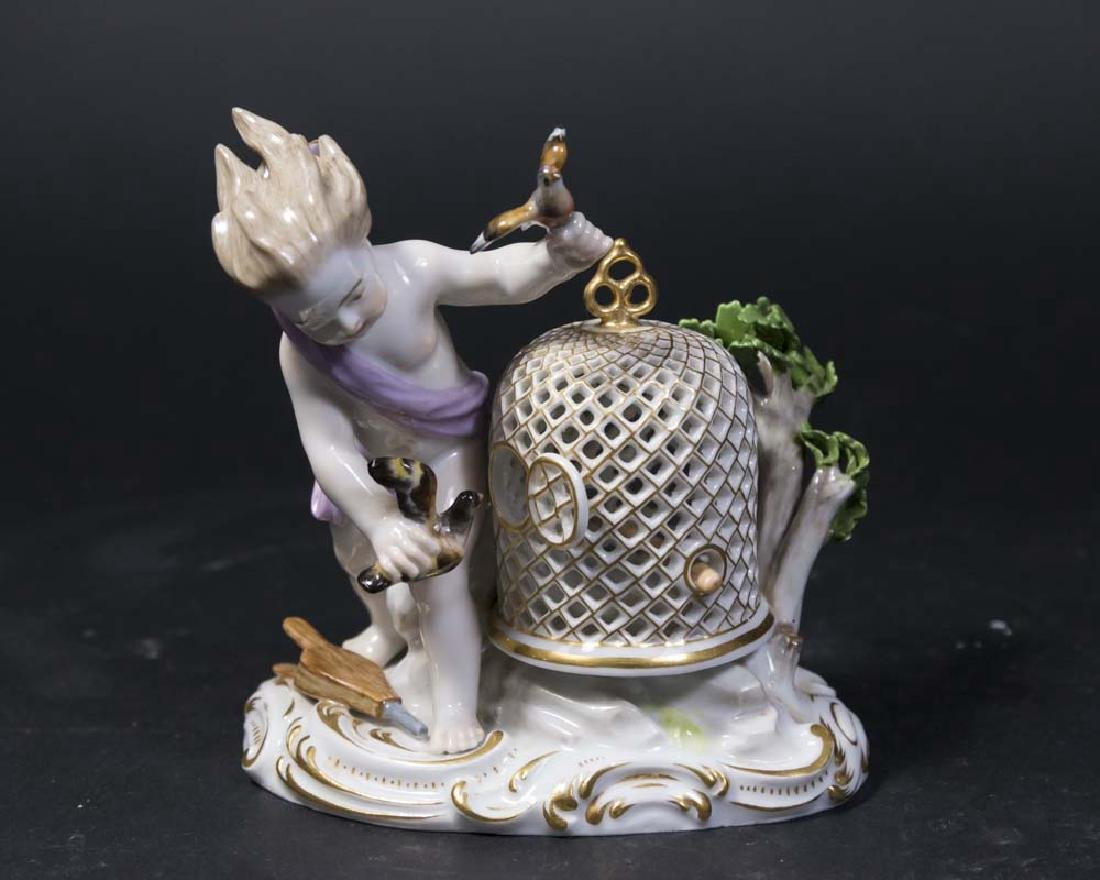 19th C. Meissen Porcelain Figure, Allegory of the Wind