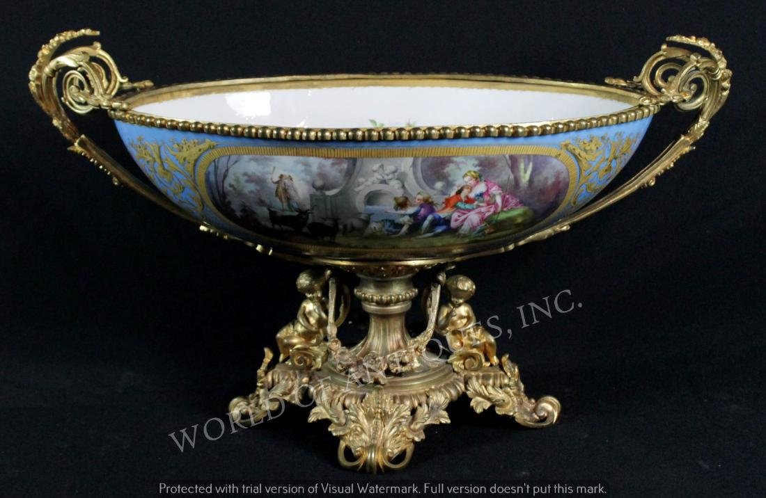 EARLY 19TH C. SEVRES CENTERPIECE