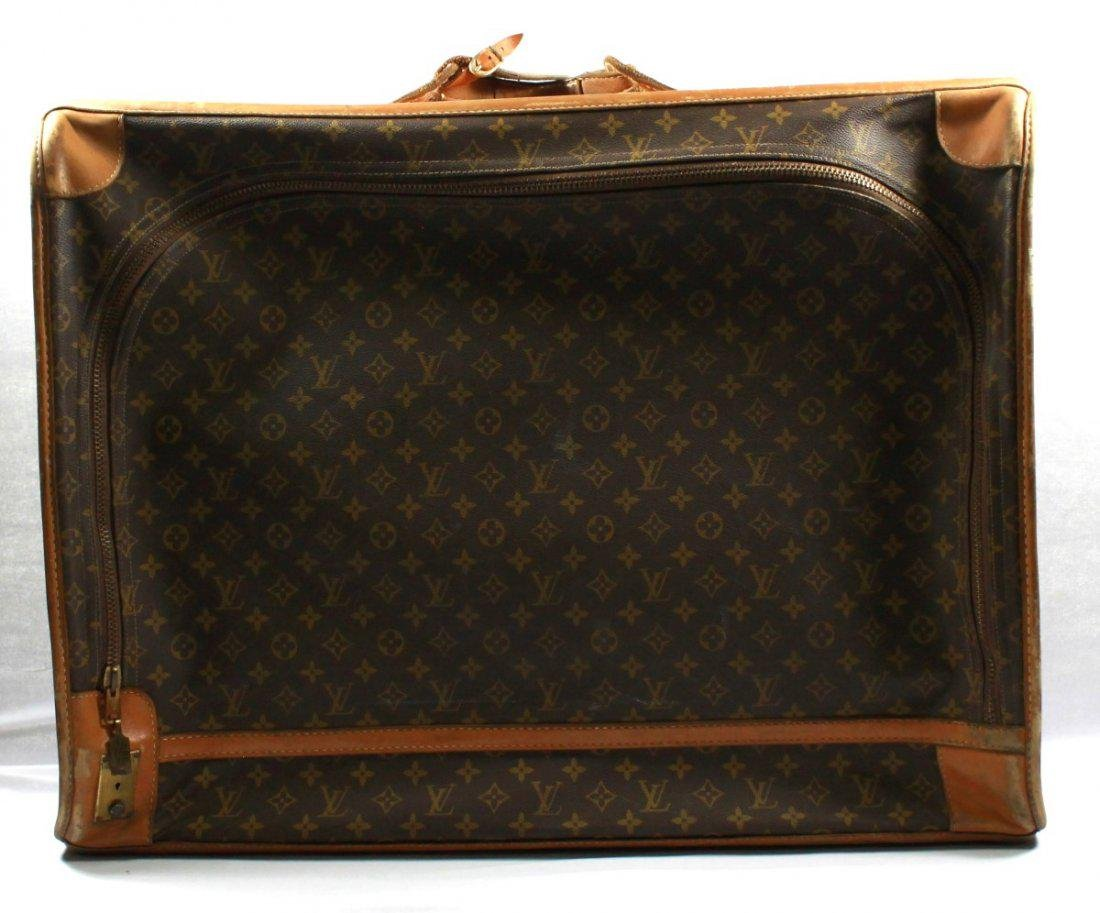 LOUIS VUITTON MONOGRAMMED LEATHER AND CANVAS SOFTSIDED
