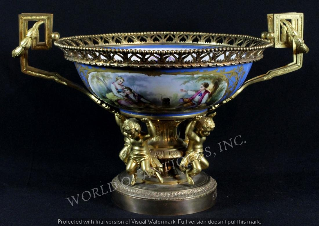 EARLY 19TH C. SEVRES CENTERPIECE BOWL