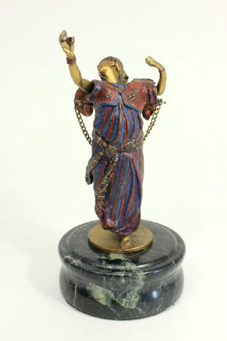 Cold Painted Vienna Bronze of Nude Dancer