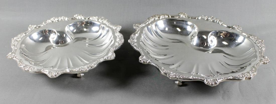 PAIR OF SILVERPLATED SHELL DISHES
