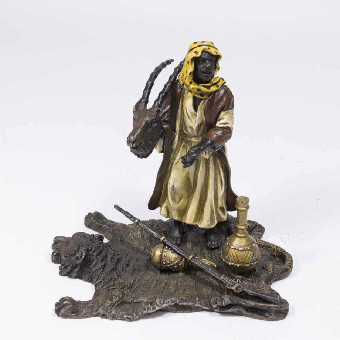 Contemporary Bergman Bronze, Orientalist Hunter