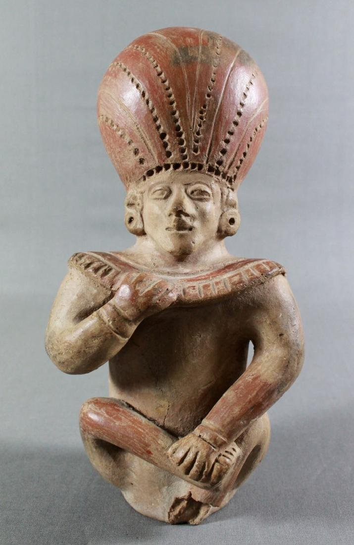 18TH C ANCIENT POTTERY FIGURE OF A MAN