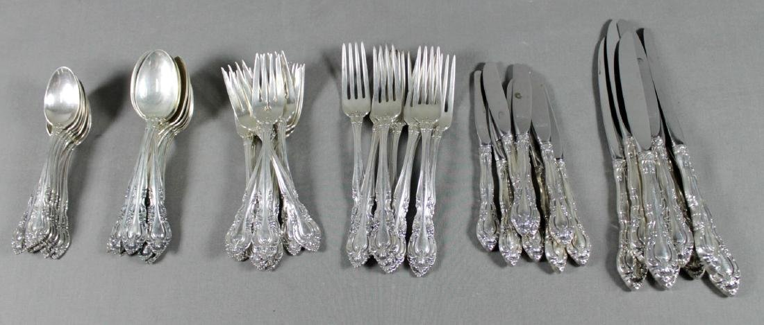 48 PC. ALVIN STERLING SILVER FLATWARE SET