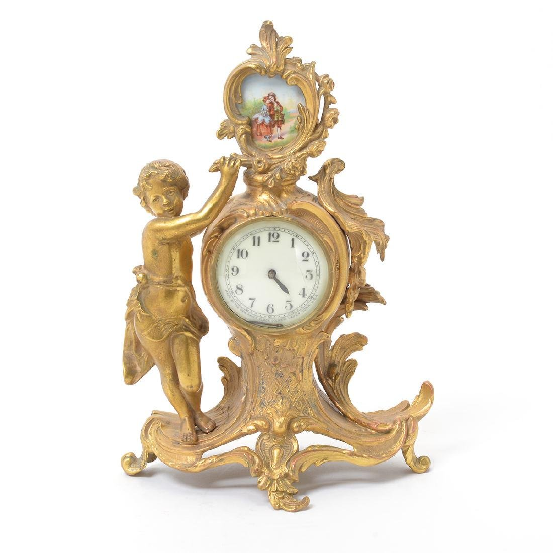 Louis XV Style Figural Clock