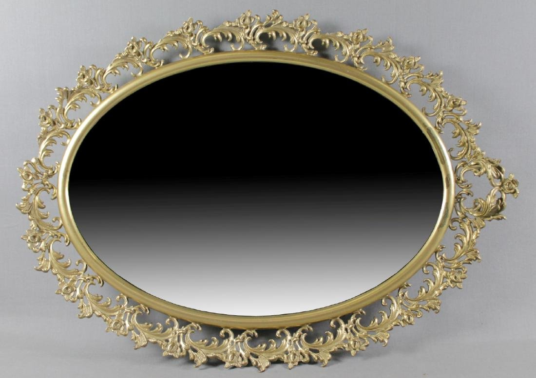 BRONZE ORNATE MIRROR