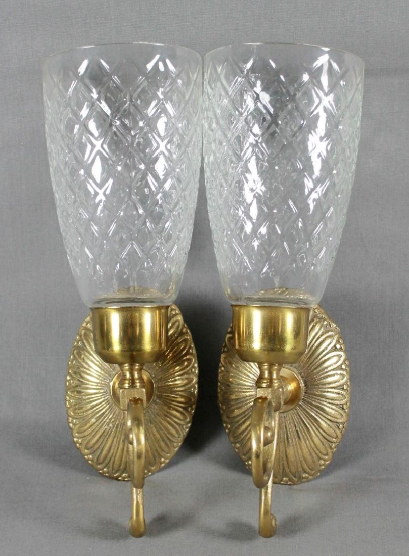 BACCARAT STYLE CUT GLASS AND GILT SCONES