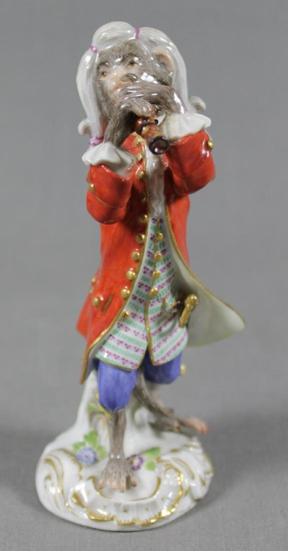 19TH C. MEISSEN MONKEY BAND FIGURE OF CLARINET PLAYER