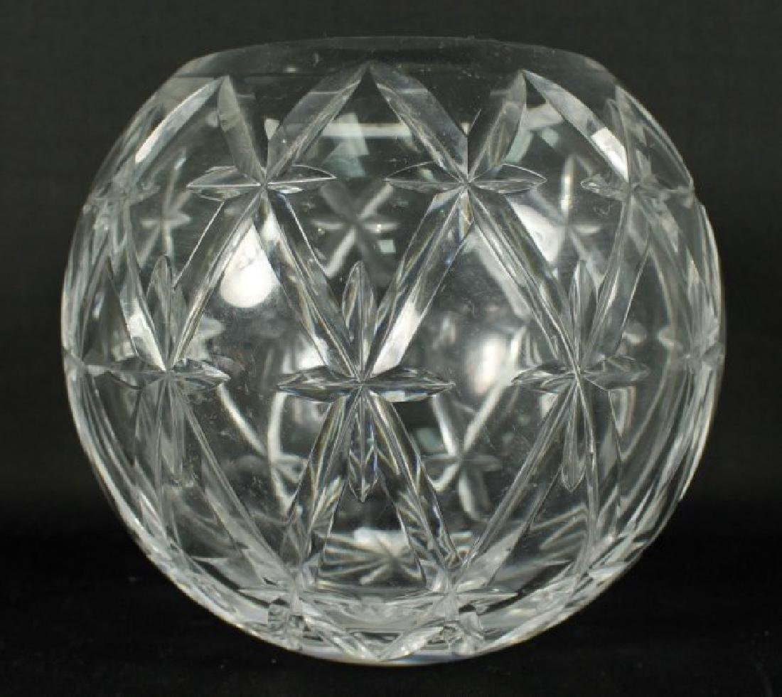 TIFFANY CUT GLASS ROUND VASE