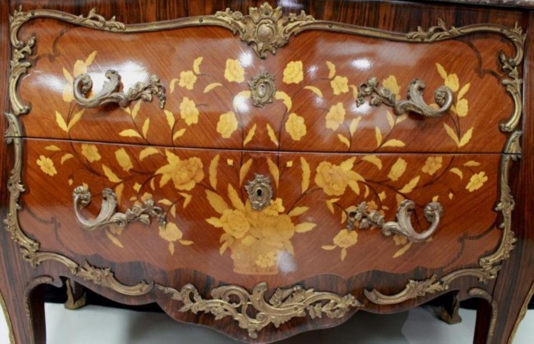 LOUIS XV STYLE GILT-BRONZE MOUNTED COMMODE - 4