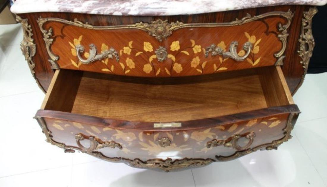 LOUIS XV STYLE GILT-BRONZE MOUNTED COMMODE - 5