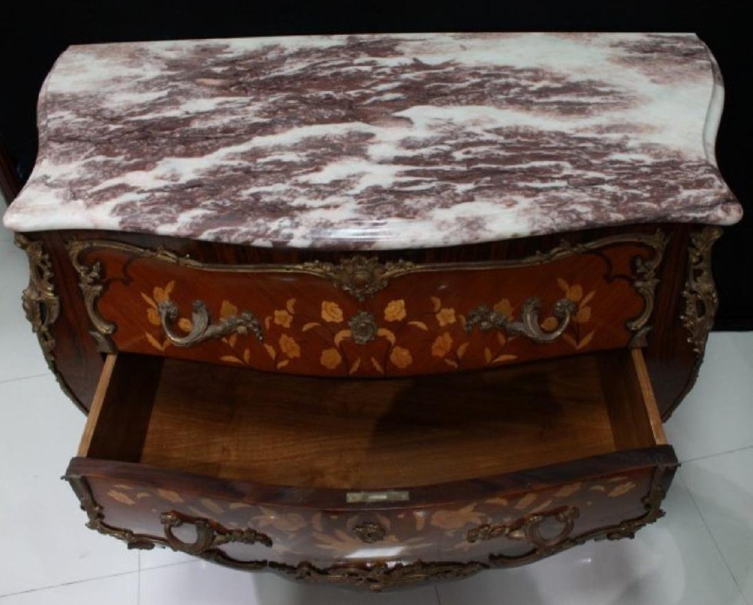 LOUIS XV STYLE GILT-BRONZE MOUNTED COMMODE - 6