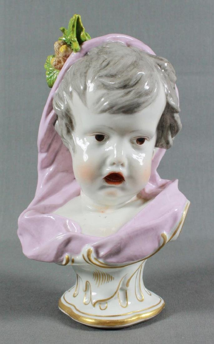 CONTINENTAL PORCELAIN KINDERBUSTS EMBLEMATIC OF THE