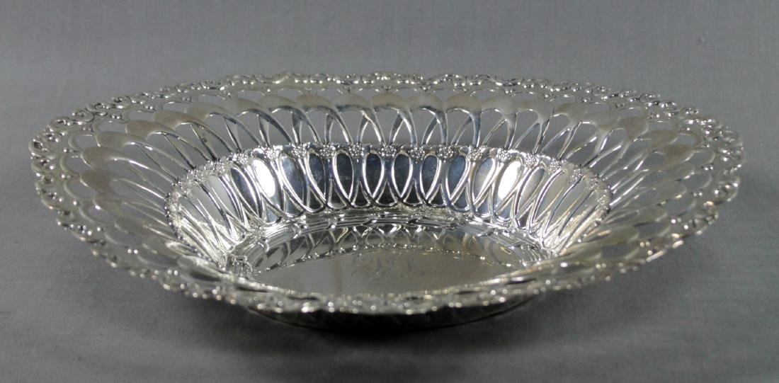 STERLING SILVER RETICULATED BREAD BASKET