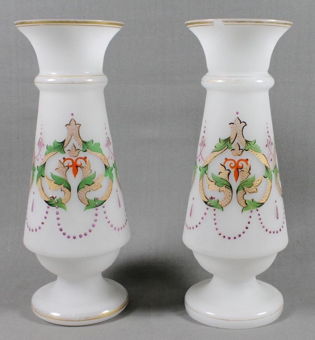 PAIR OF BRISTOL VASES