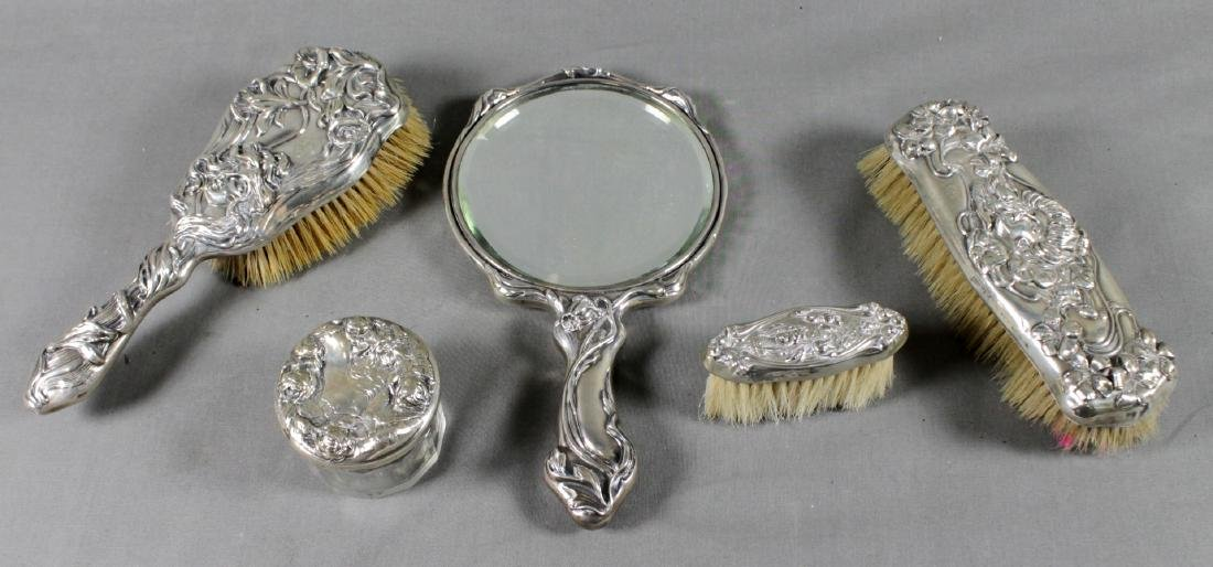 5 PC/ STERLING SILVER DRESSER SET