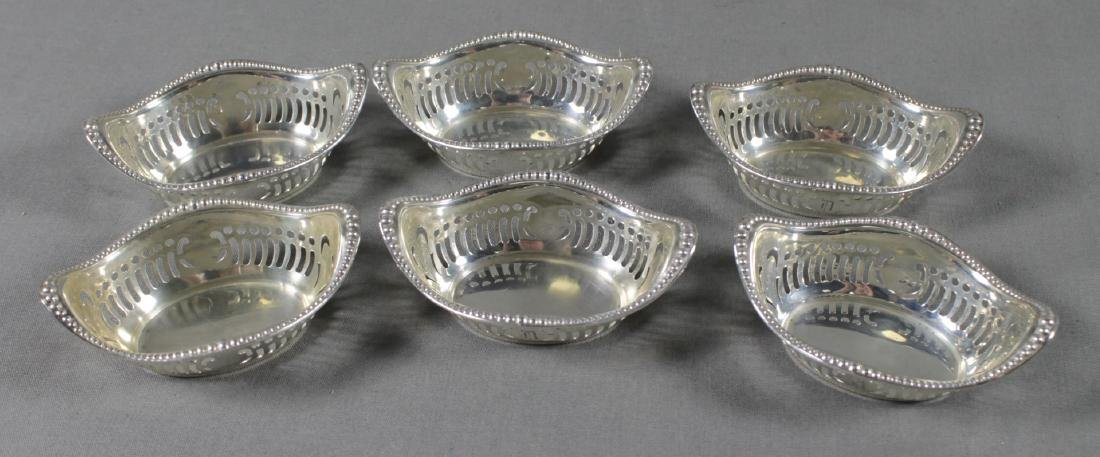 SET OF 6 STERLING SILVER SALT TRAYS