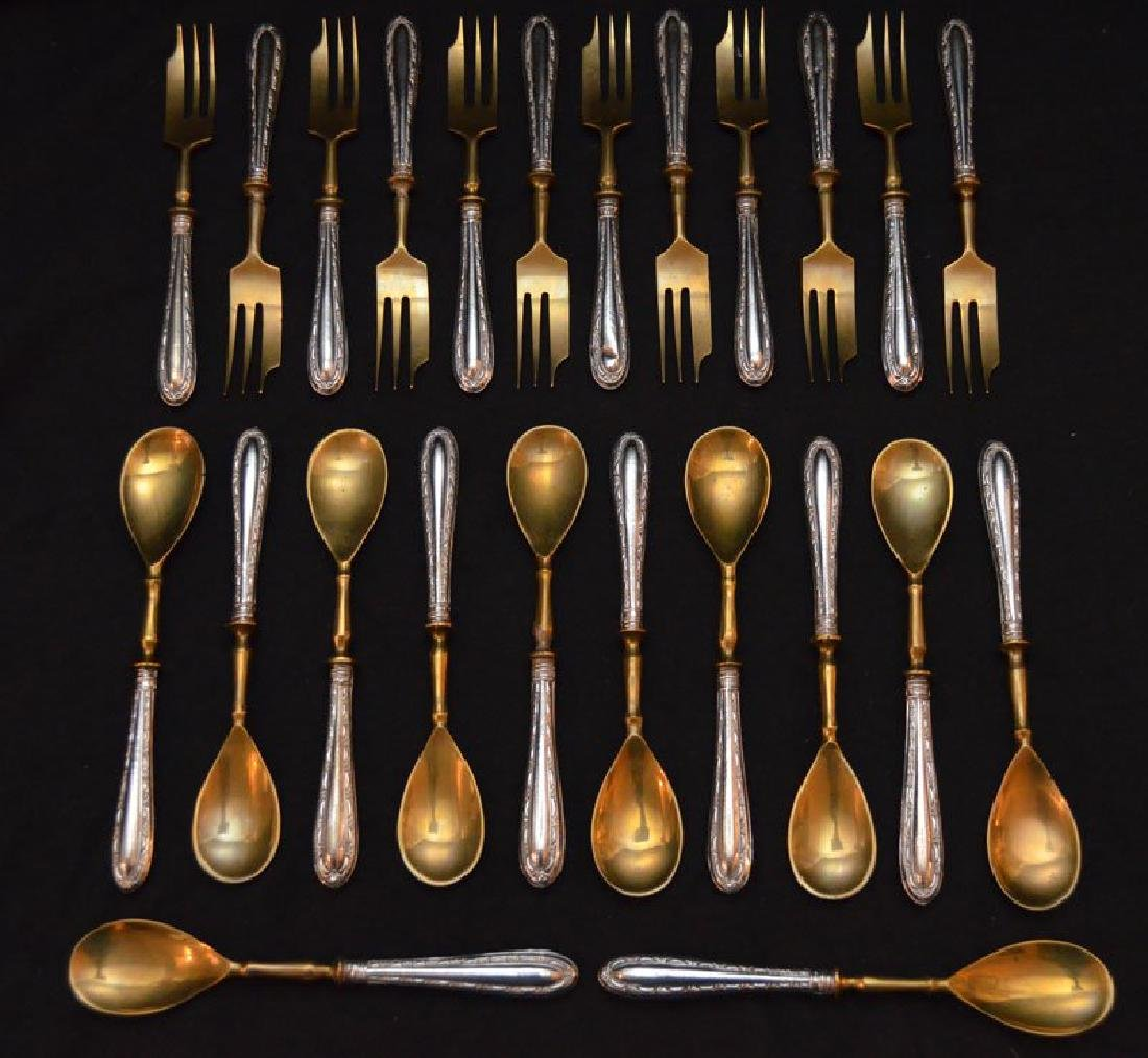 24 pc. Set Of 800 Silver Forks and Spoons