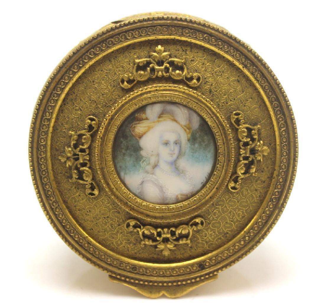 Antique Bronze Box with Miniature