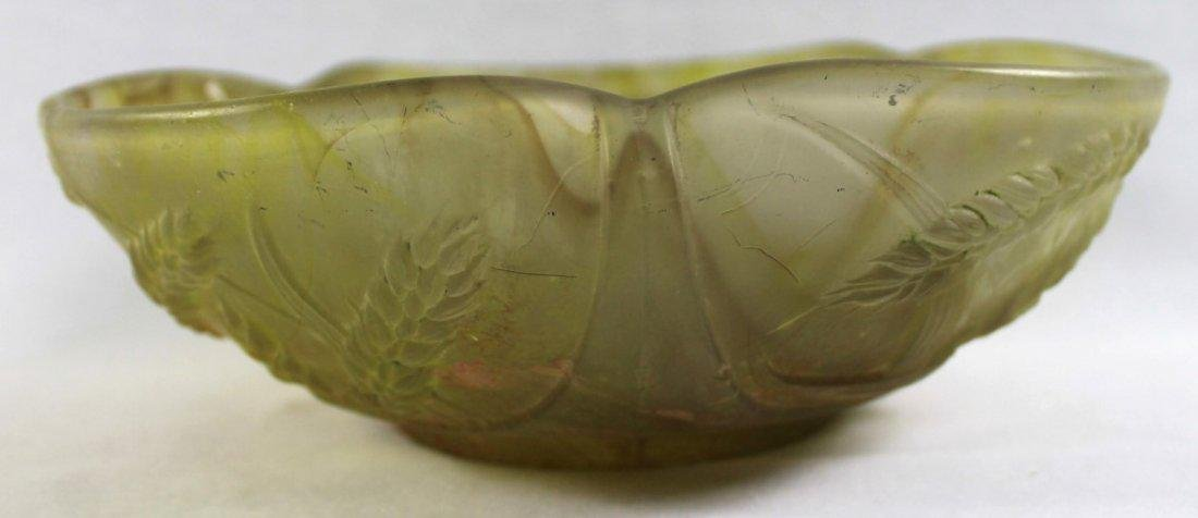 DAUM NANCY MOLDED GLASS BOWL, SIGNED