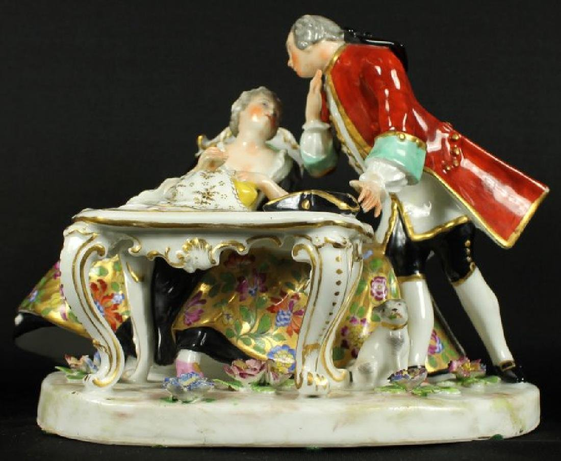 Royal Vienna Porcelain group of Couple