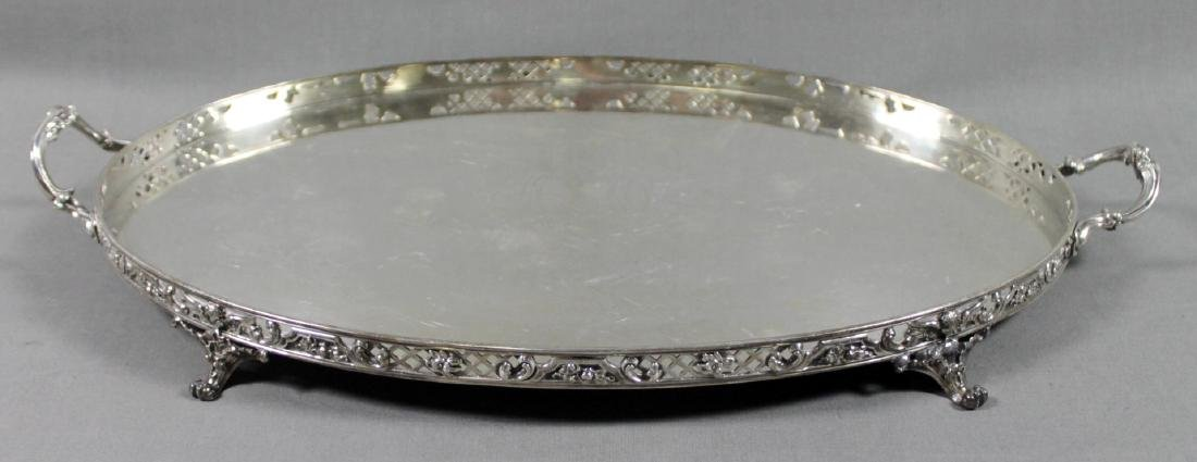 TIFFANY AND CO. STERLING SILVER TWO HANDLE TRAY