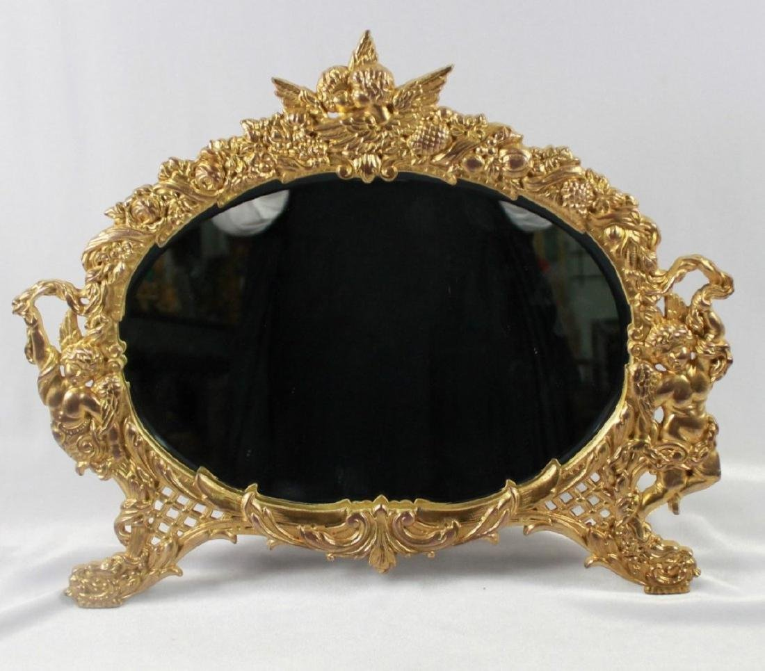 C 1880 ANTIQUE SIGNED AMERICAN ART MIRROR