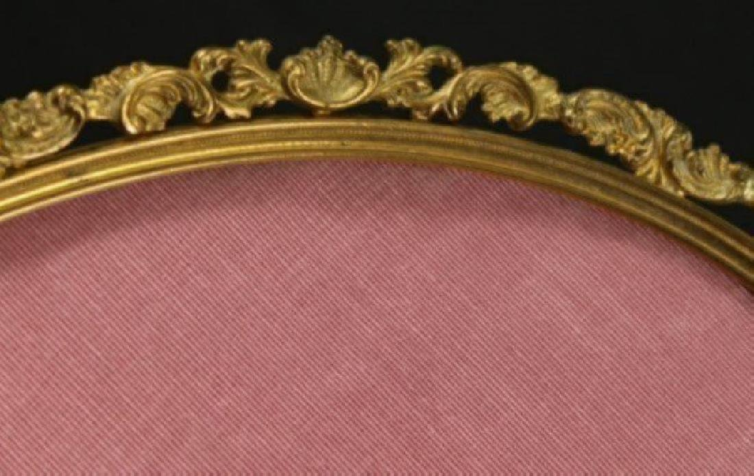ANTIQUE BRONZE OVAL PICTURE FRAME - 2